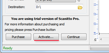 Main window of Scanitto Pro