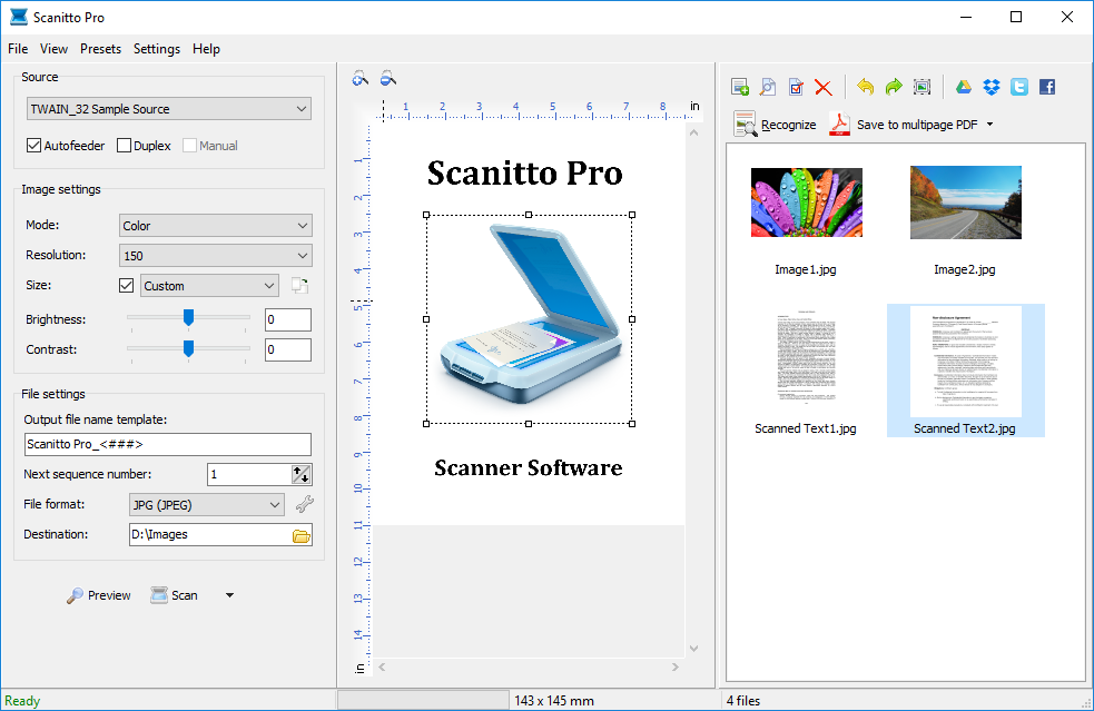 Affordable, simple and fast scanning software