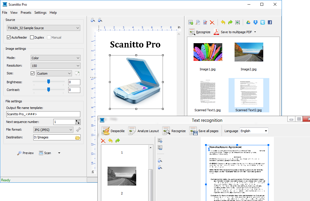 Scanitto Pro Interface